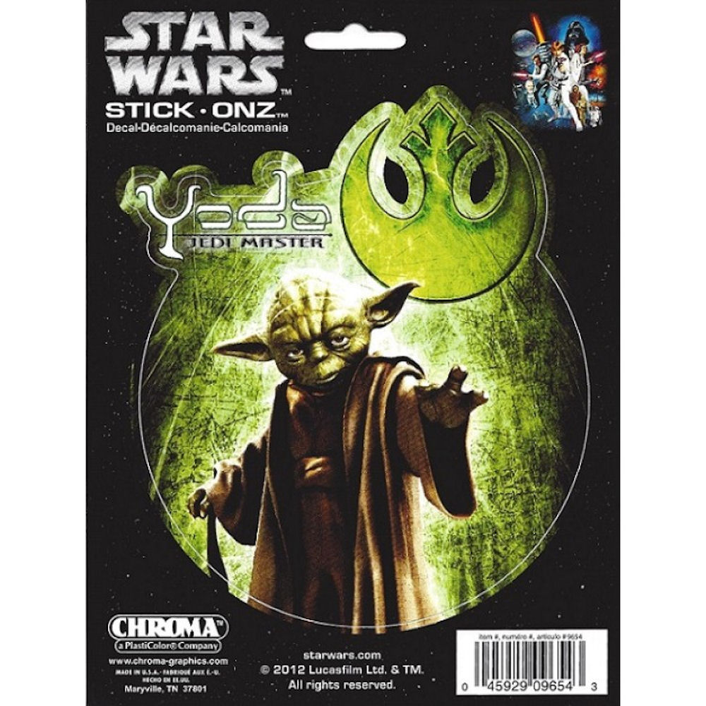 Star Wars Yoda Decal