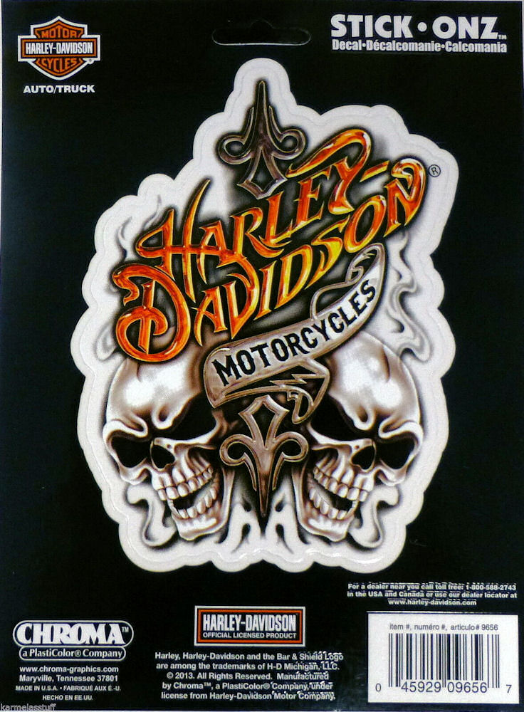 Harley Davidson with Skull Decals