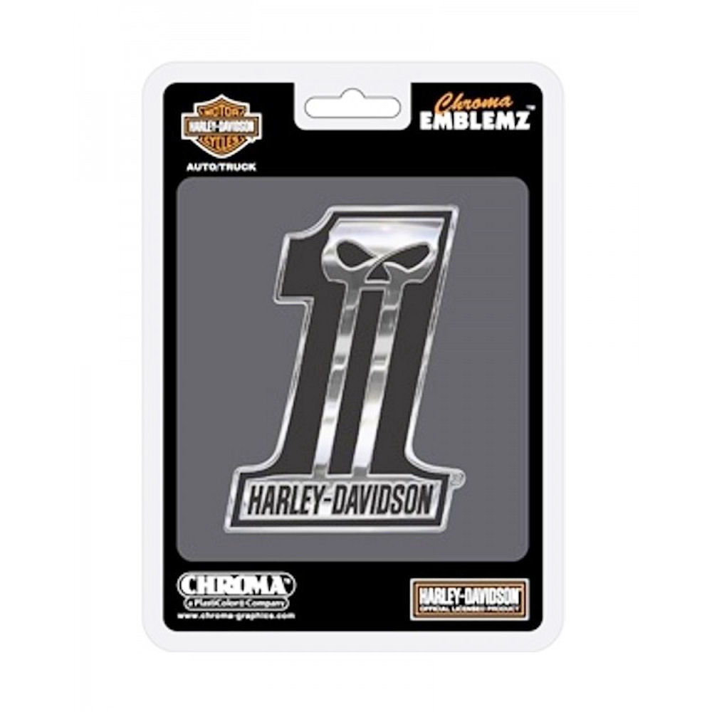 Harley Davidson No.1 Auto Emblem