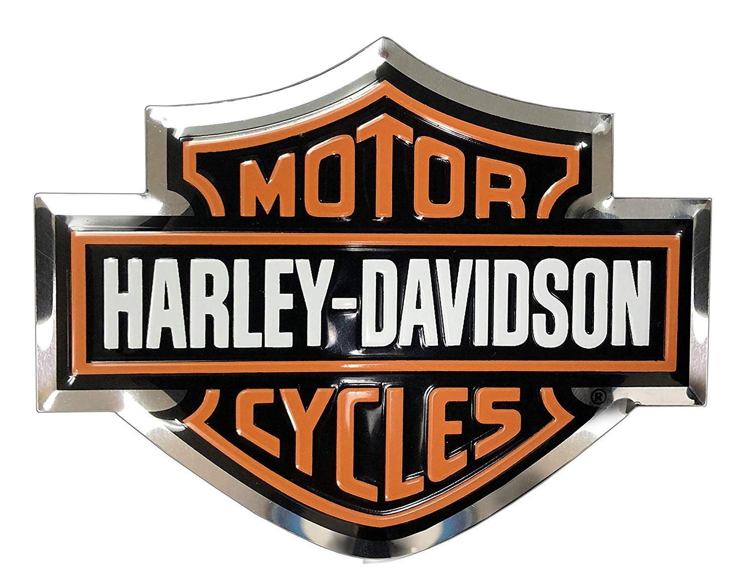 Harley Davidson Bar & Shield Aluminum Decal