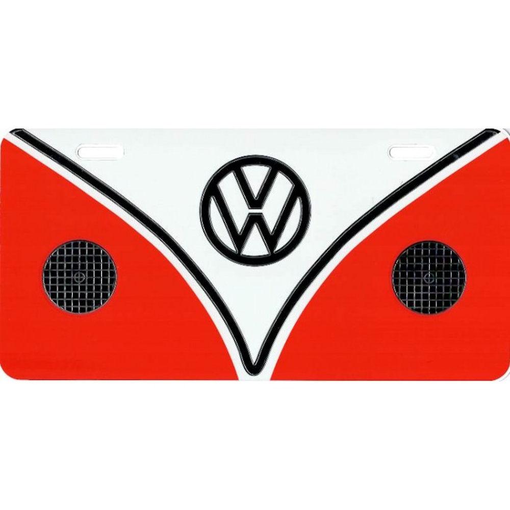 VW Emblem License Plate