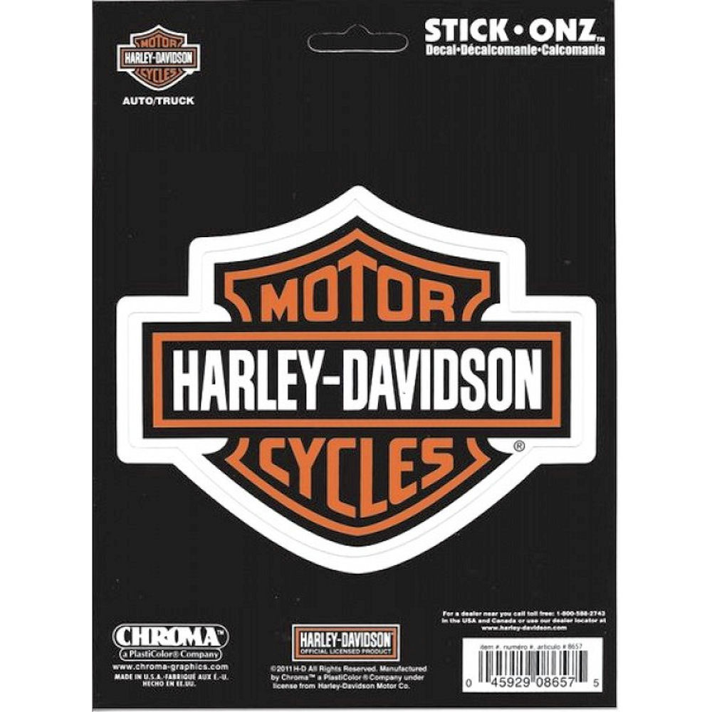 Harley Davidson Bar And Shield Decal