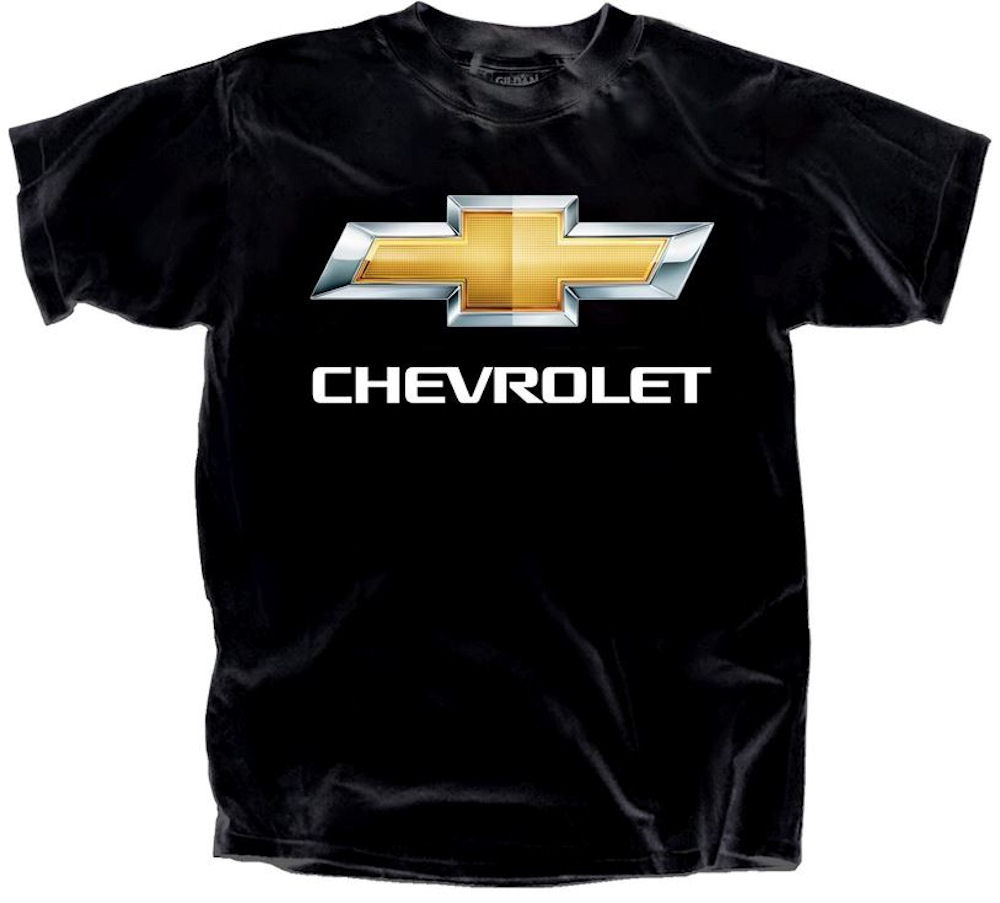 Chevy Bow Tie Chrome Logo Officially Licensed T Shirt Large