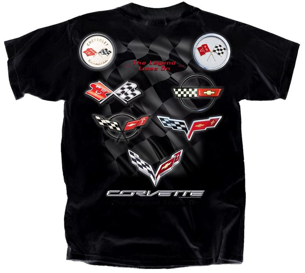 Corvette Emblem Collection Officially Licensed T-Shirt XL