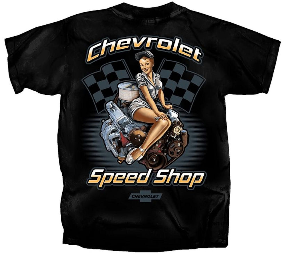 Vintage Chevy Pin up Officially Licensed T.Shirt Large