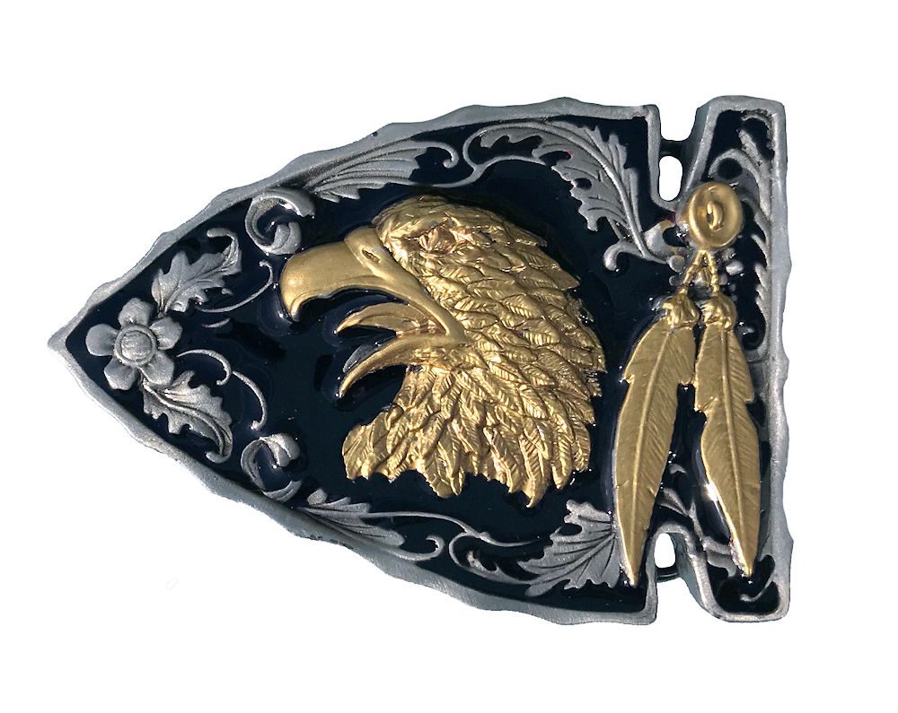 Eagle Head On Arrow Head Black & Gold