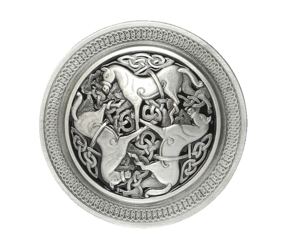 Celtic Horses Belt Buckle