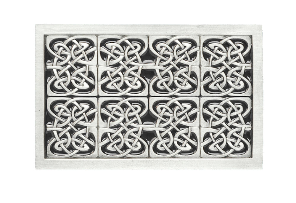 Celtic Rectangle Black Belt Buckle