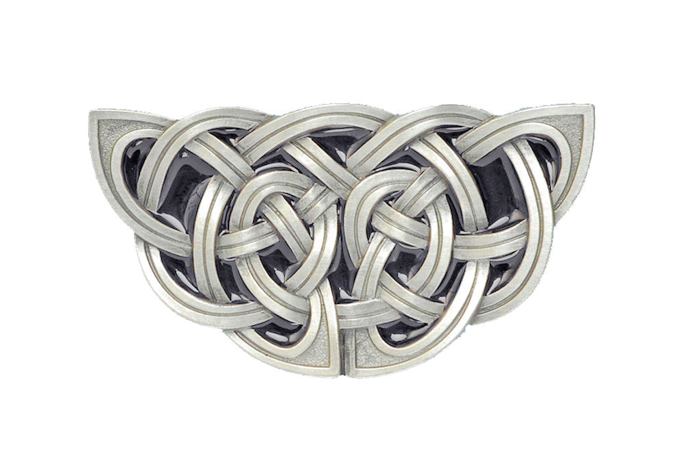 Celtic Knot Black Belt Buckle