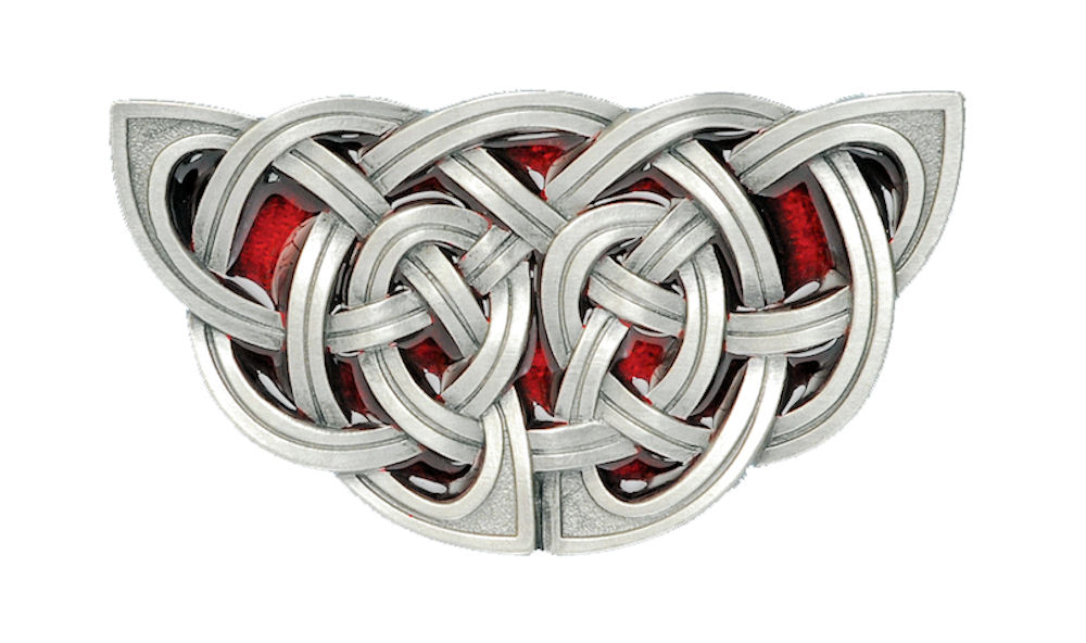 Celtic Knot Red Belt Buckle