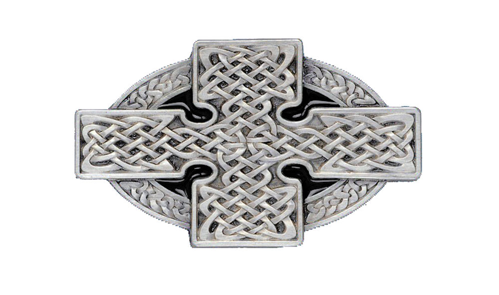 Celtic Cross Black Belt Buckle