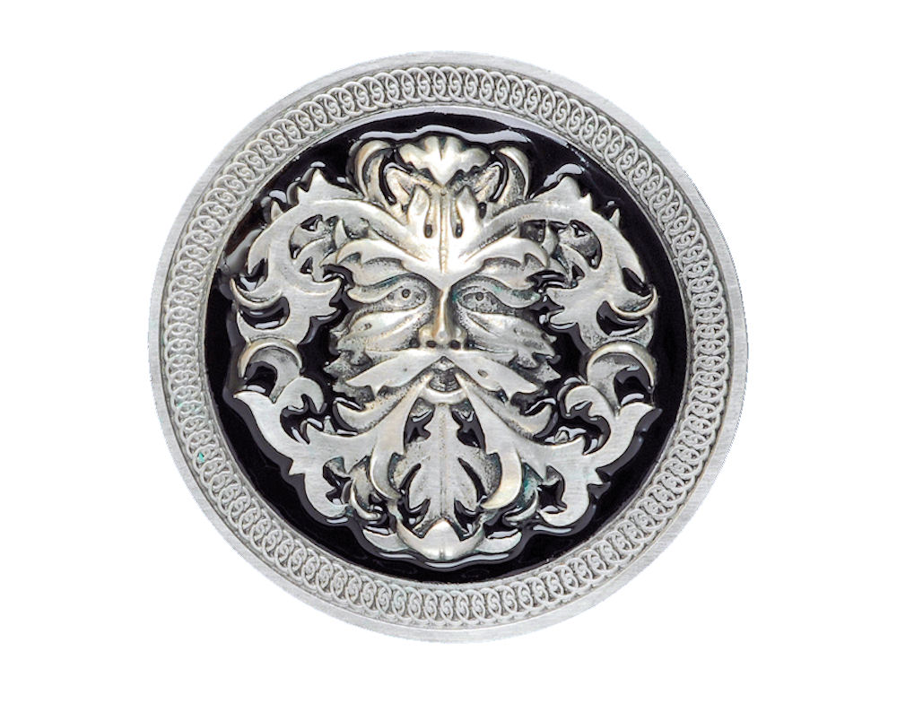 Green Man Celtic Belt Buckle