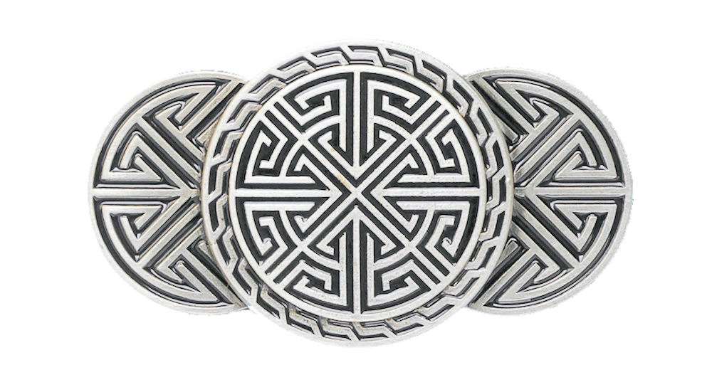 Celtic Runes Black Belt Buckle