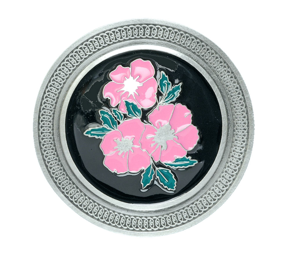 Celtic Flowers Belt Buckle