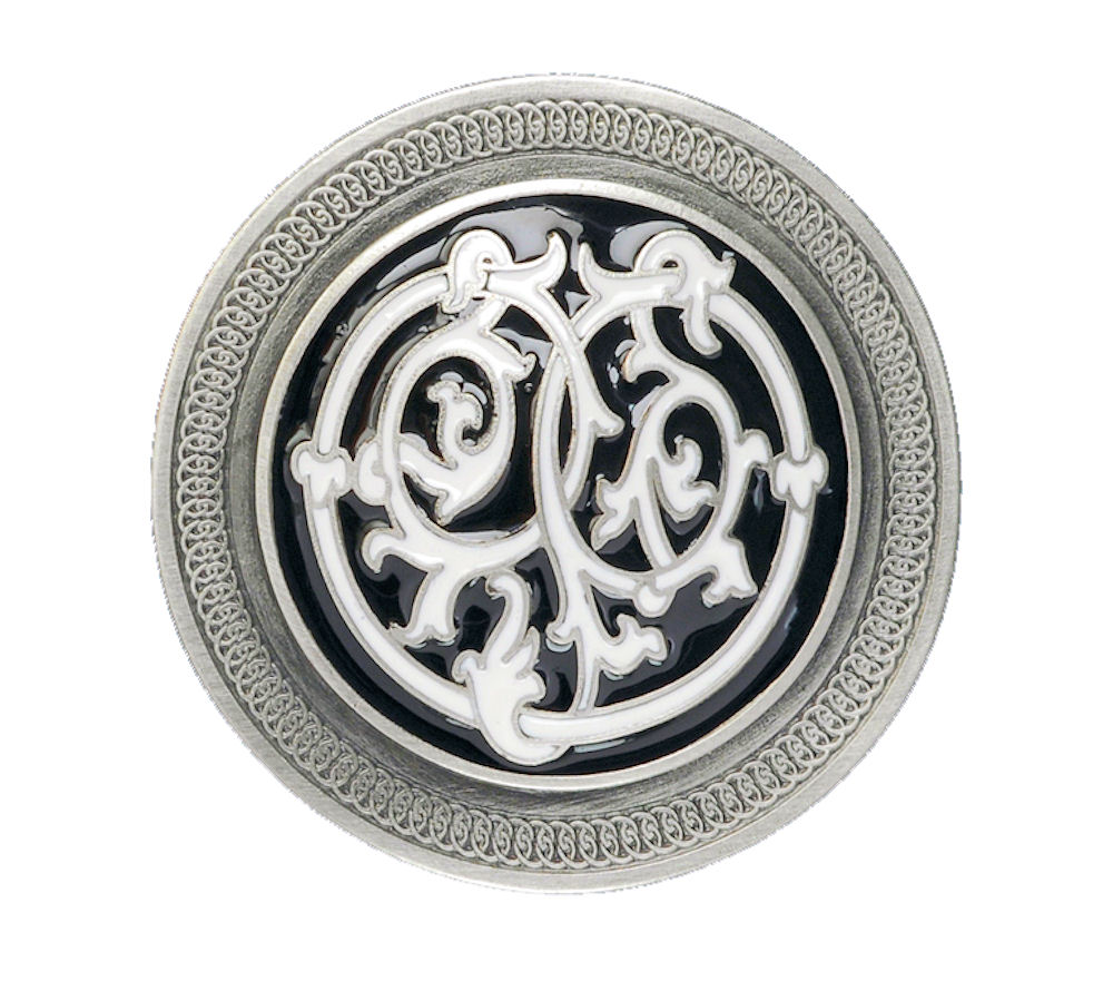 Celtic Stems Black Belt Buckle