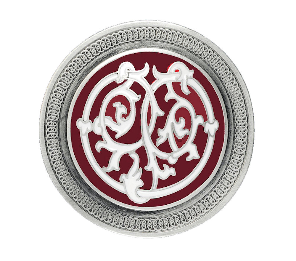 Celtic Stems Red Belt Buckle