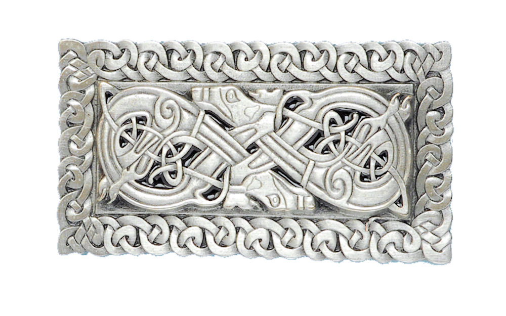 Celtic 3D Rectangle Belt Buckle