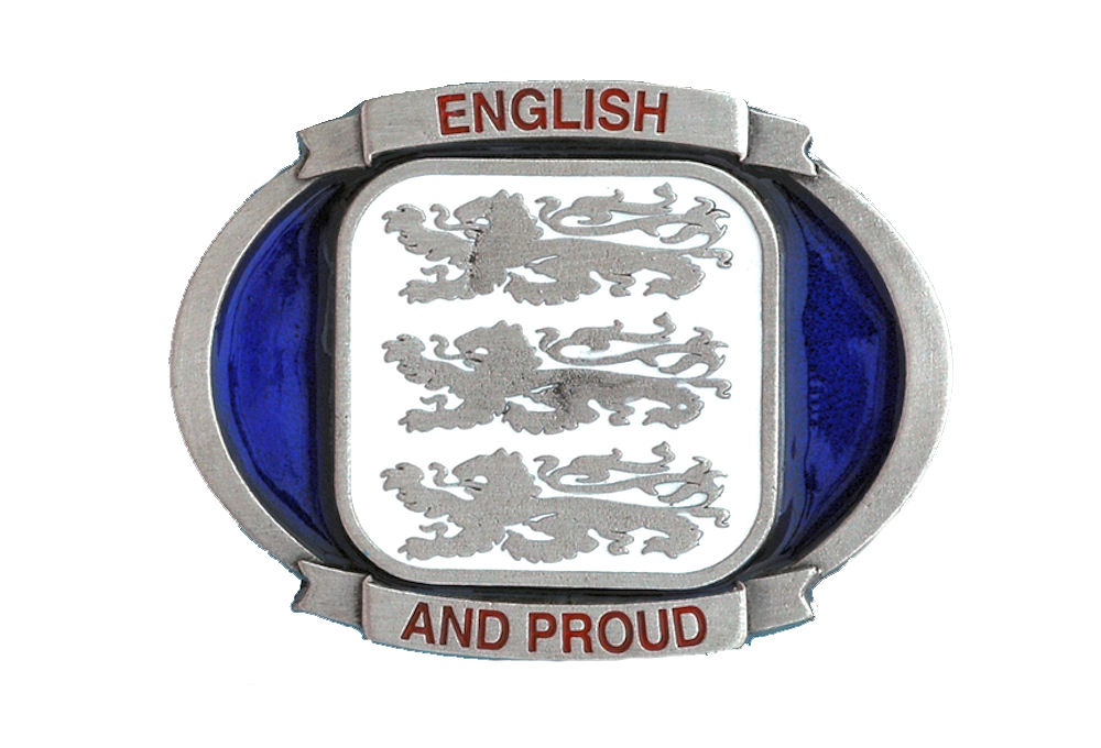 English and Proud Belt Buckle