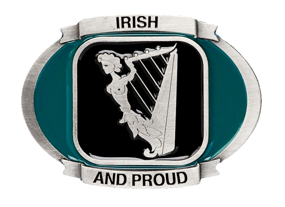 Irish and Proud Belt Buckle