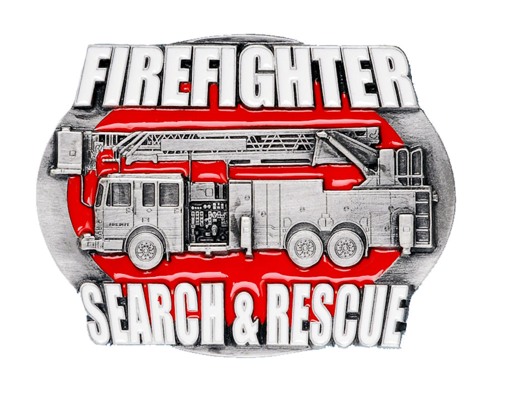 Fire Search and Rescue Belt Buckle