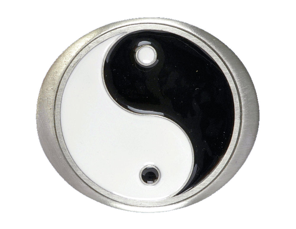 Ying Yang Oval Belt Buckle