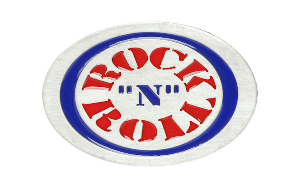 Rock n Roll Oval Belt Buckle