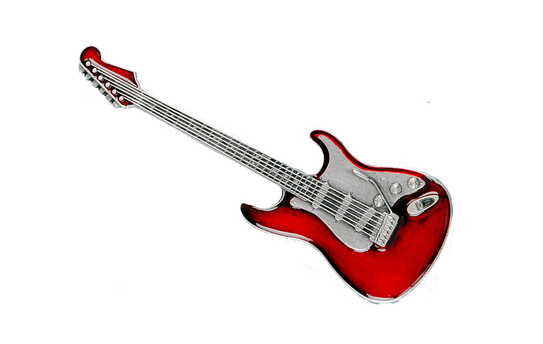 Guitar Red Belt Buckle