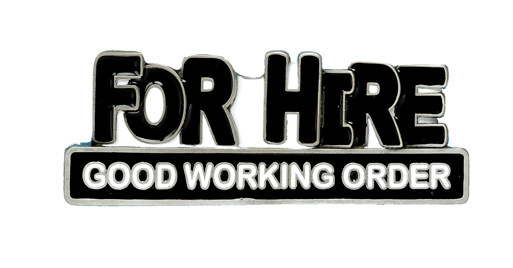 For Hire Belt Buckle
