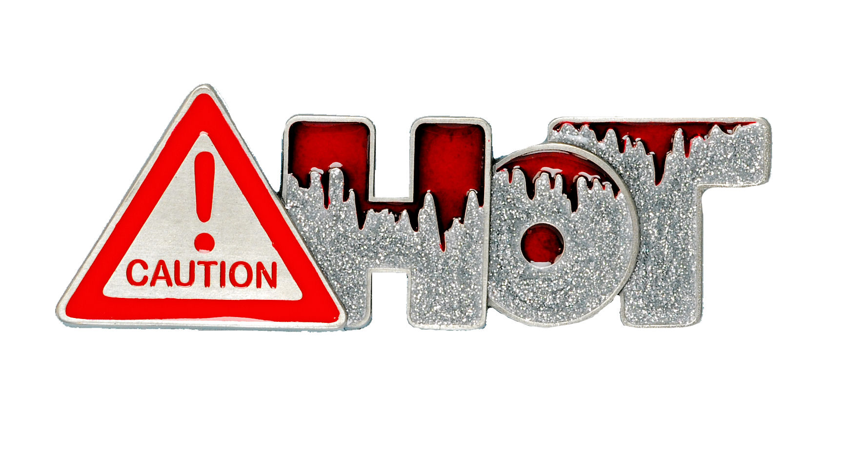 Caution Hot Belt Buckle