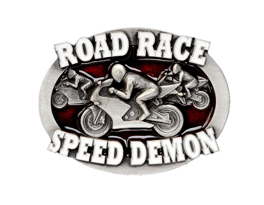 Road Race Belt Buckle