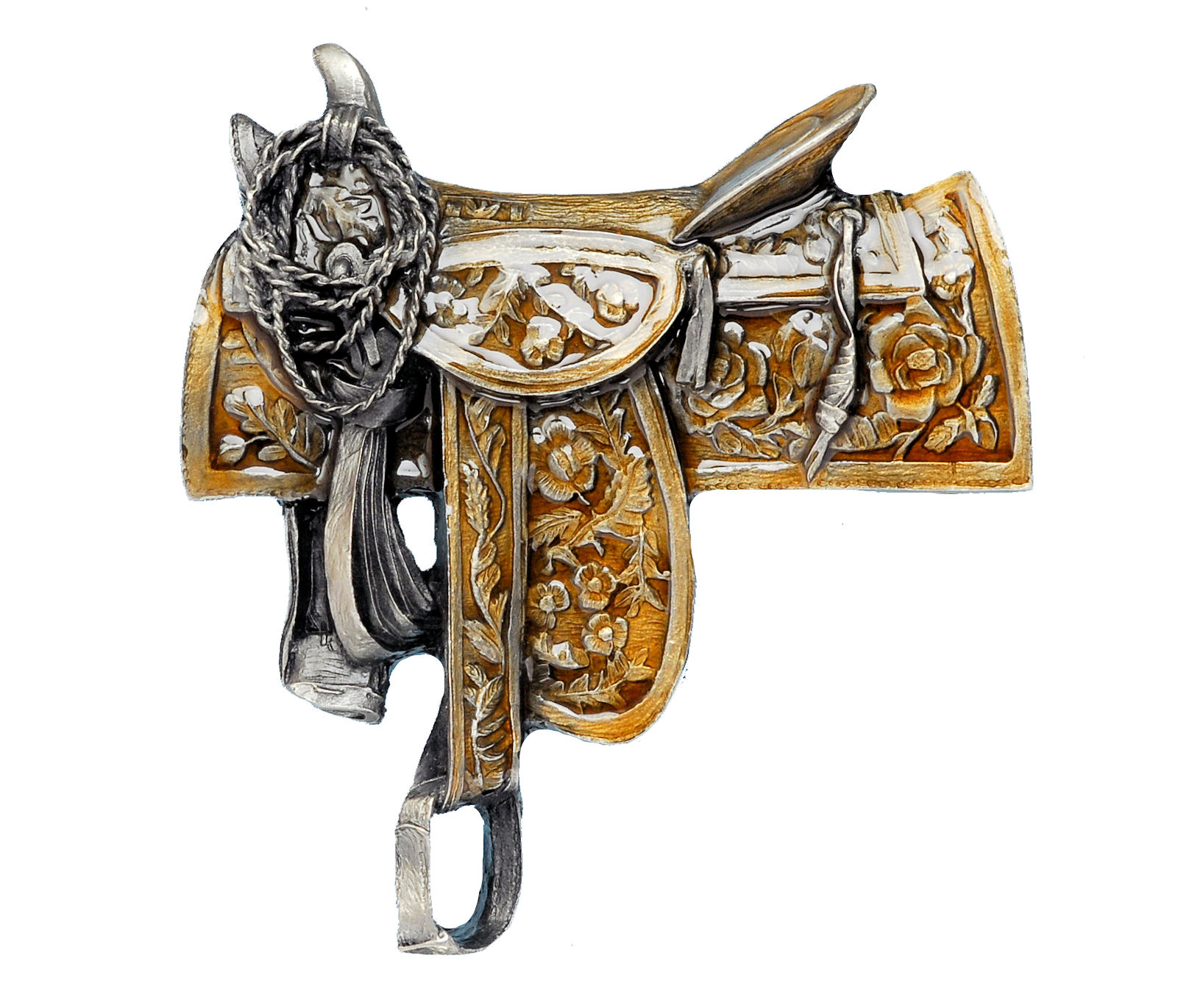 Western Saddle Belt Buckle