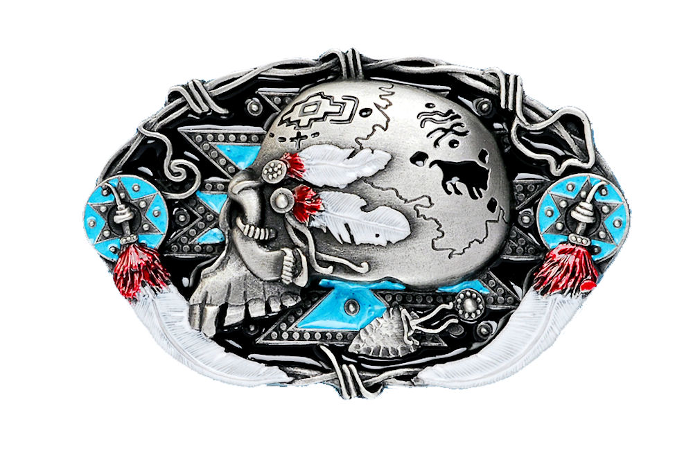 Indian Skull Belt Buckle