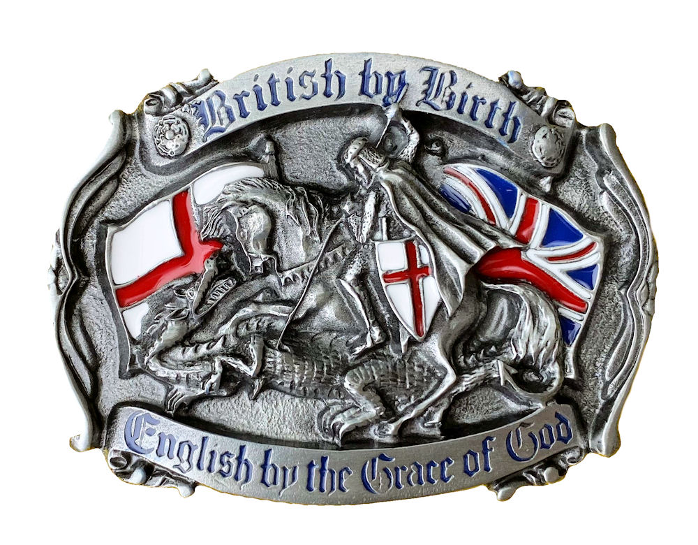 British by Birth Belt Buckle