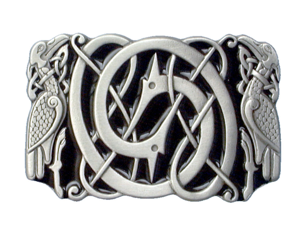 Celtic Bird Black Belt Buckle