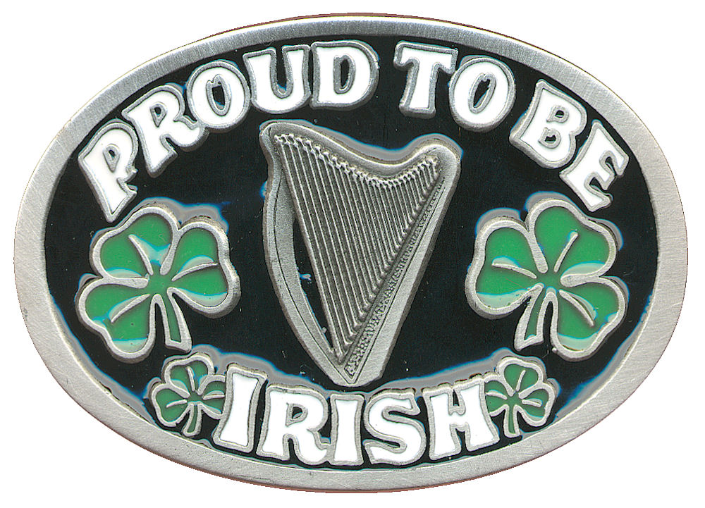 Proud to be Irish - black Belt Buckle