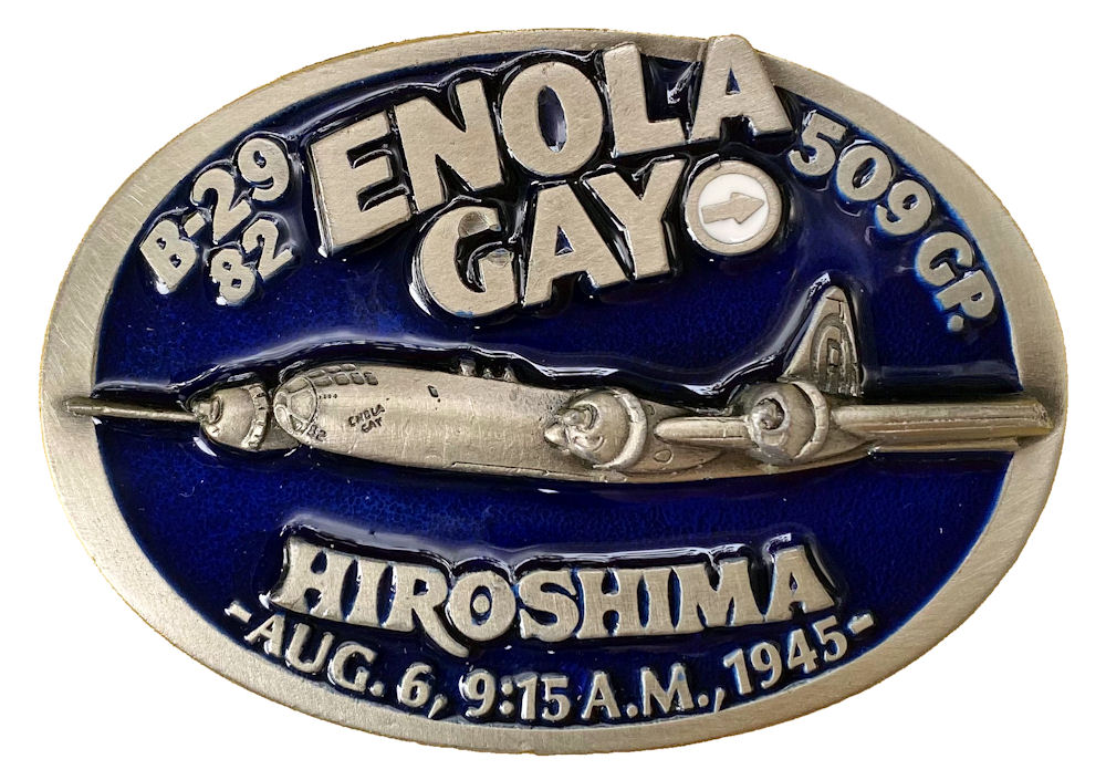 Enola Gay Aeroplane Belt Buckle