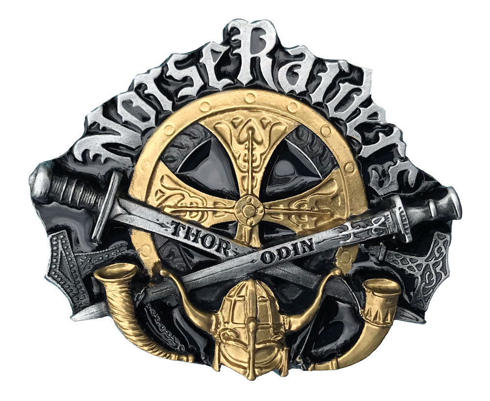 Norse Raider Black & Gold Edition Belt Buckle