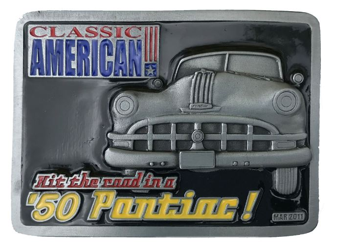 50 Pontiac Belt Buckle