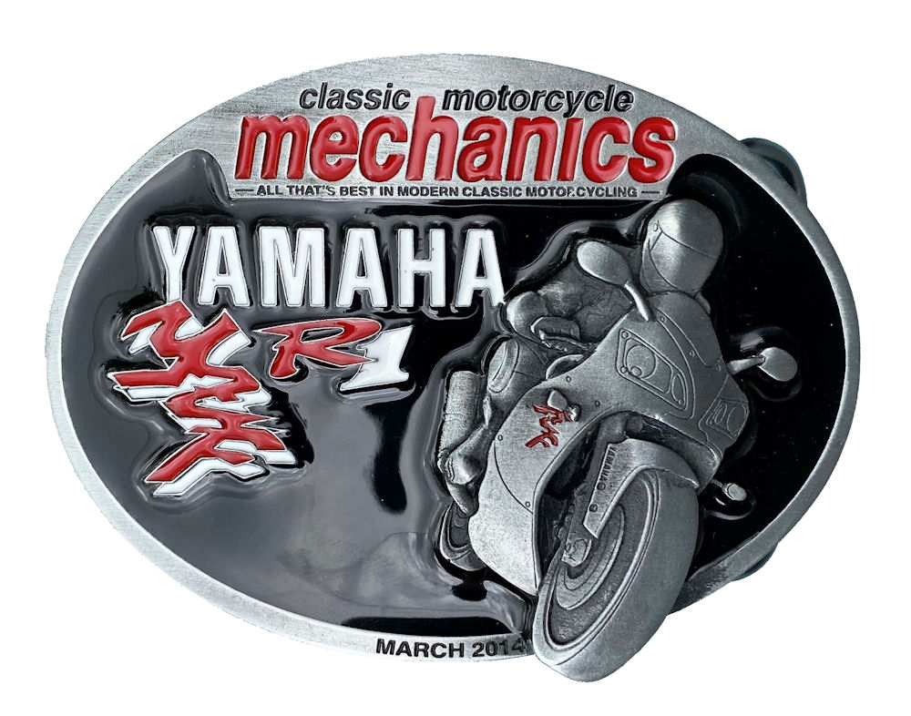Classic Motorcycles Mechanics Yamaha Belt Buckle