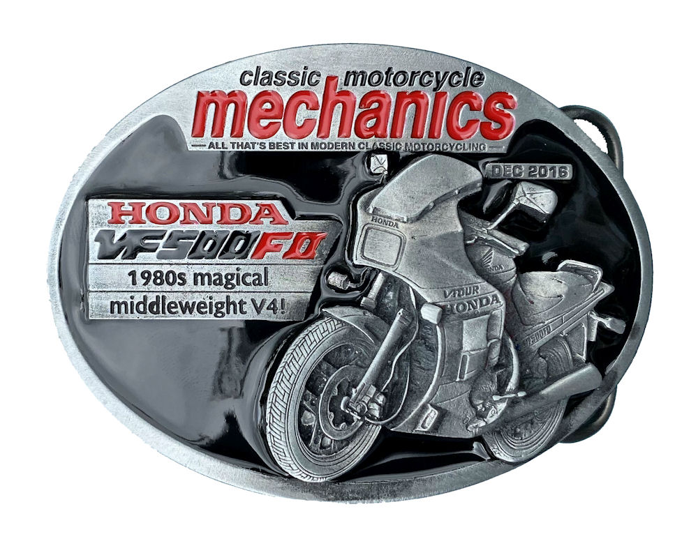 Classic Motorcycle Mechanics Honda Belt Buckle