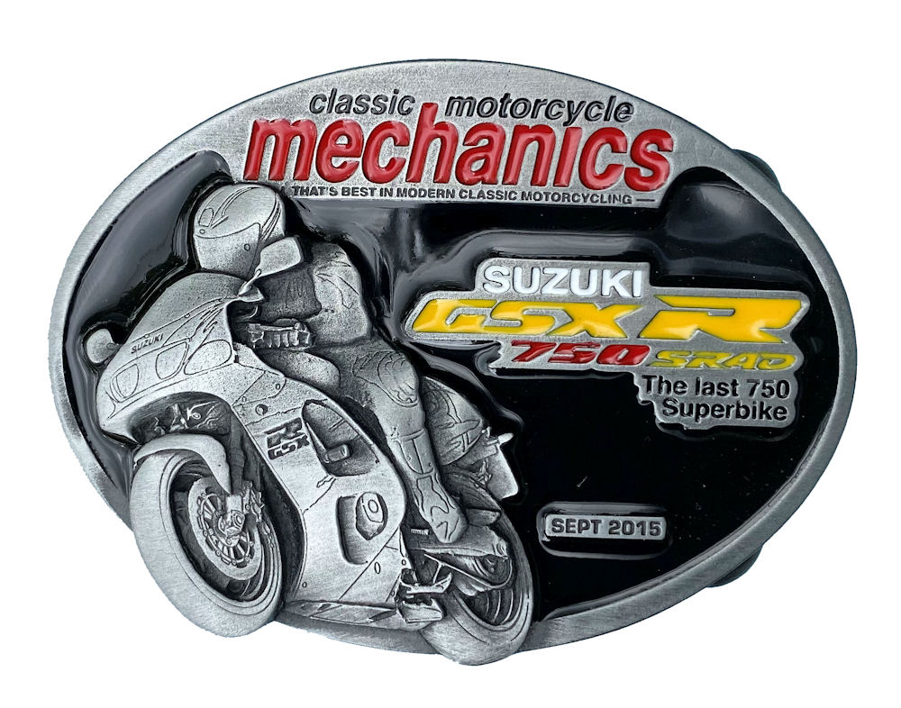 Classic Motorcycle Mechanics Suzuki Belt Buckle