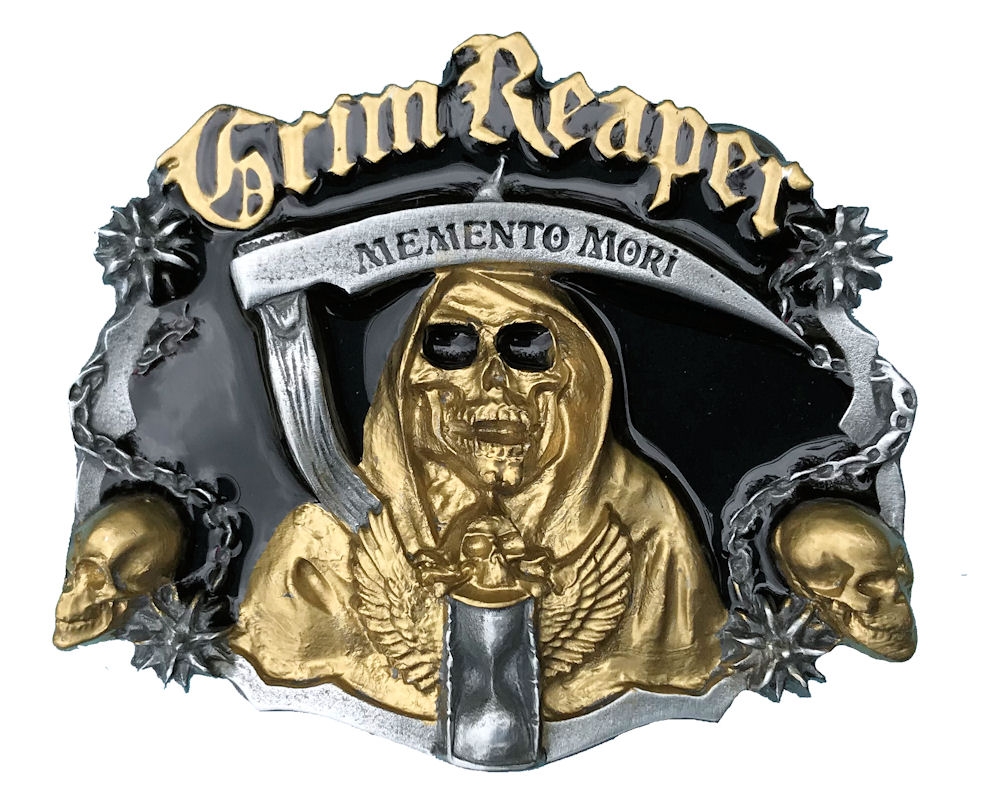 Grim Reaper Black & Gold Edition Belt Buckle