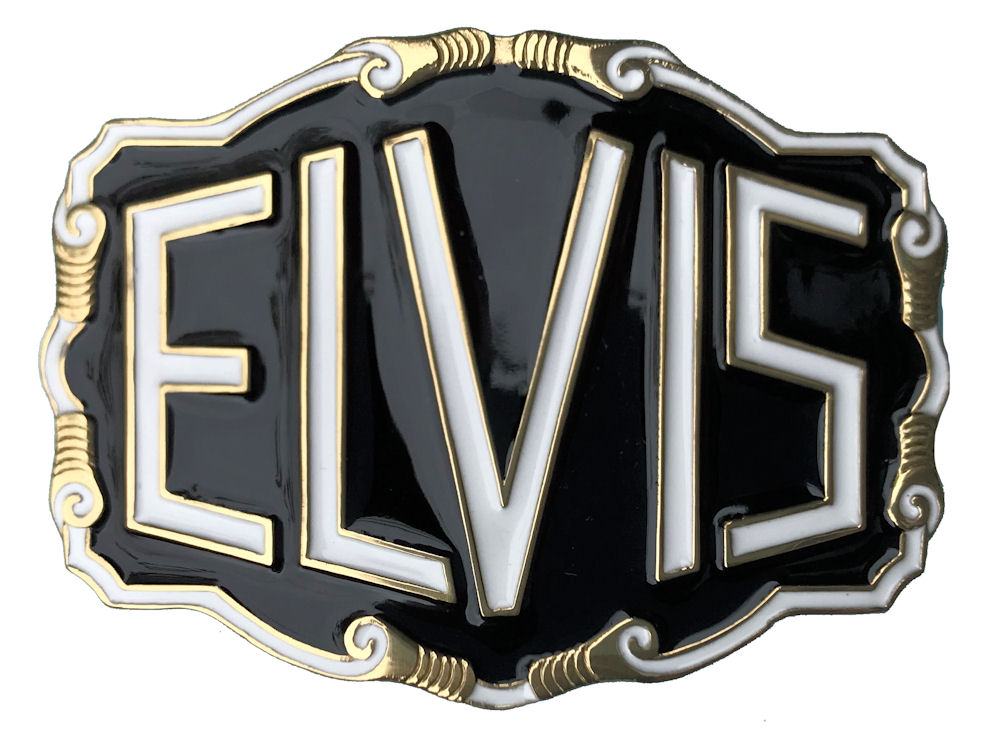 Elvis Letters - black with white letters
