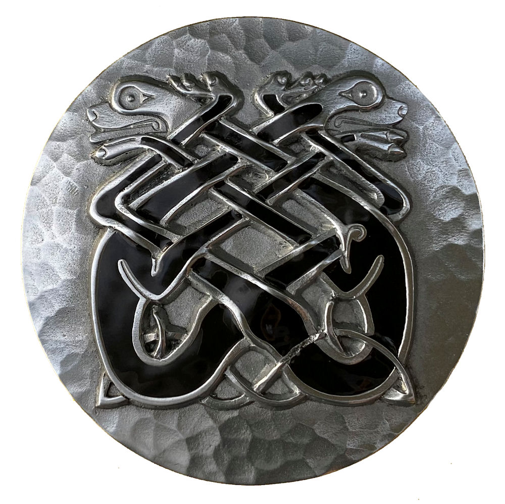 Celtic Twin Dogs Design Belt Buckle