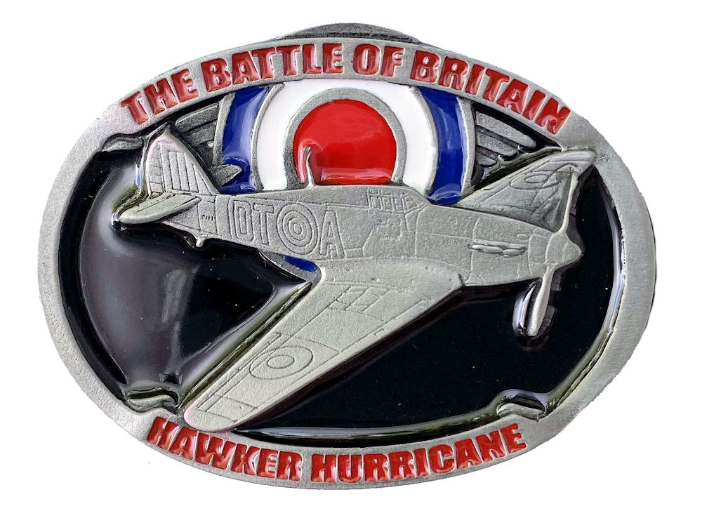 Hurricane Aeroplane Belt Buckle