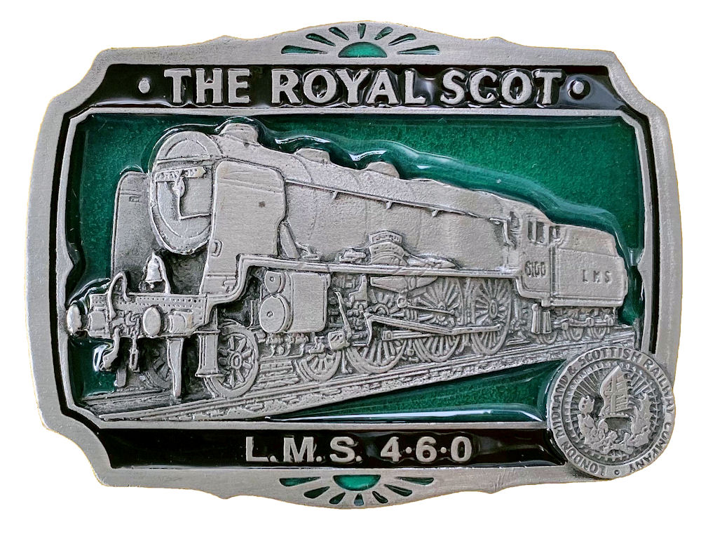 Royal Scot Train Belt Buckle