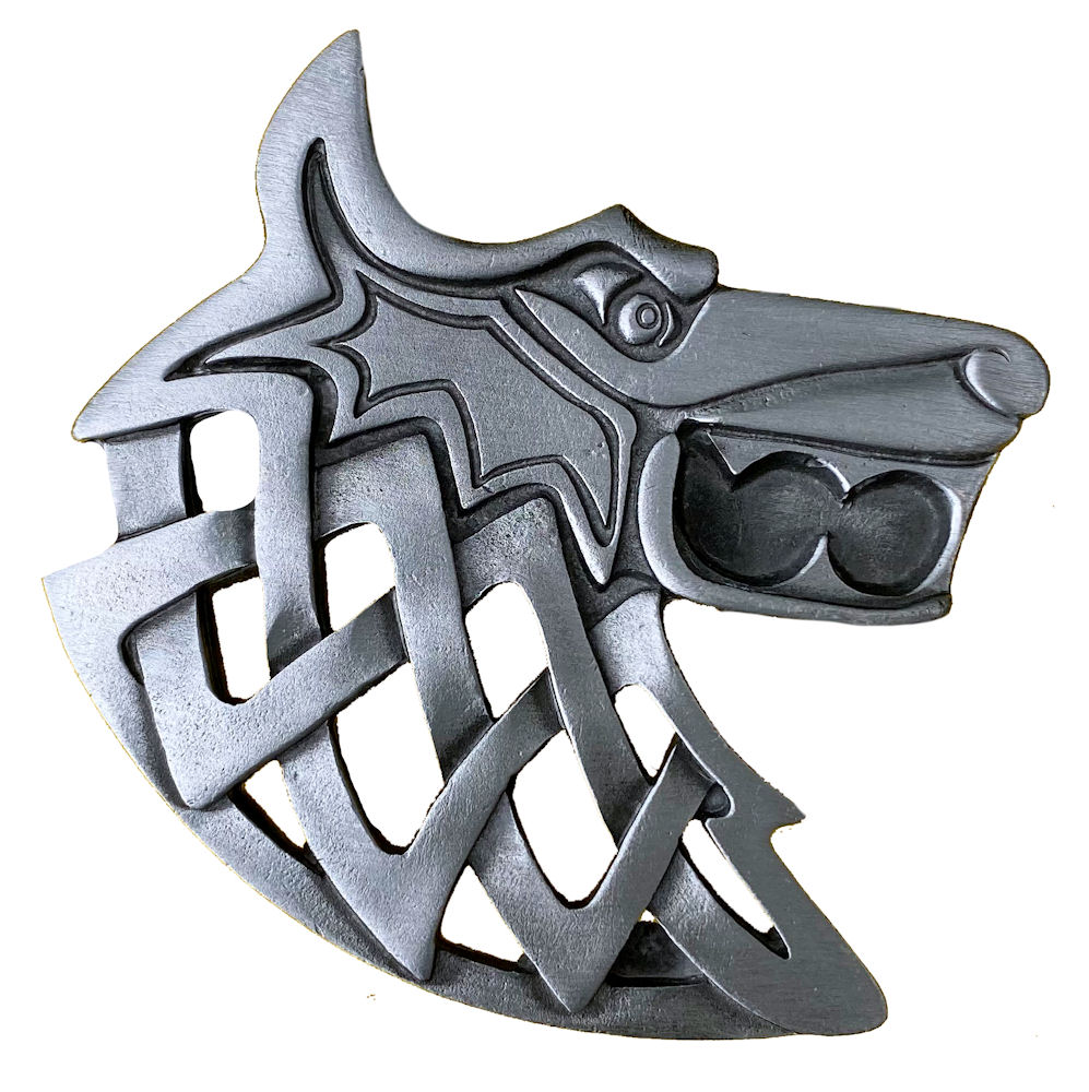 Viking Wolf Belt Buckle