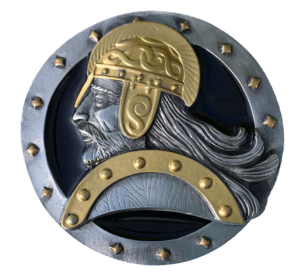 Viking Black & Gold Range Belt Buckle