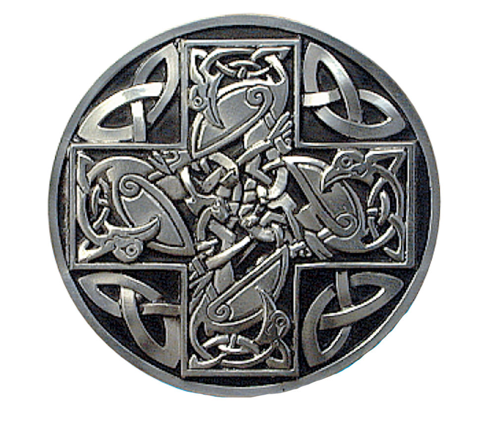 Celtic Cross - Black Belt Buckle