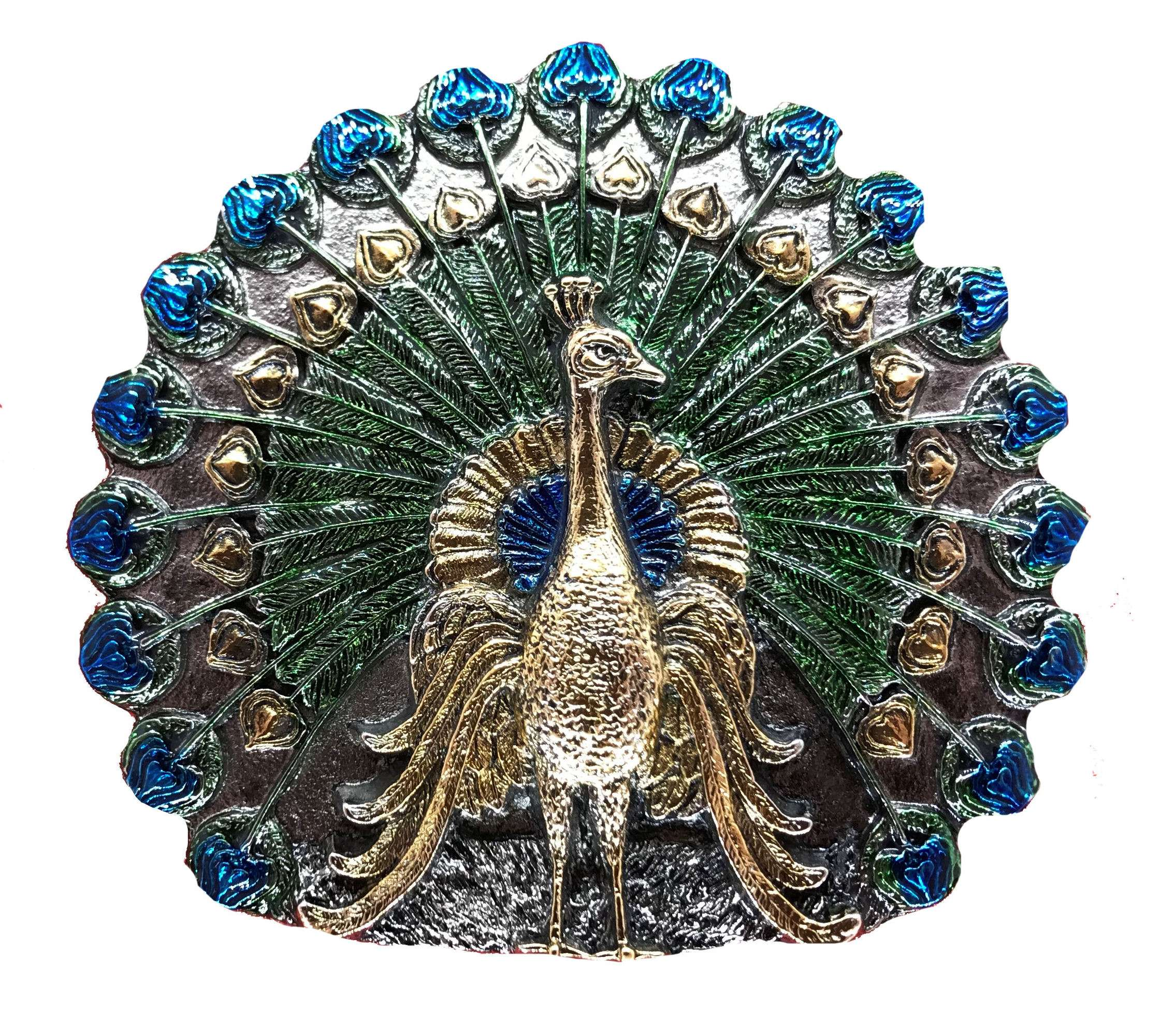 Peacock Gold & Silver Plated  Full Colour